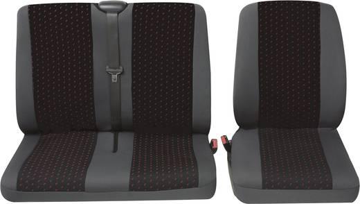 Petex 30071912 Profi 1 Sitzbezug 4teilig Polyester Rot, Anthrazit Fahrersitz, Doppelsitz