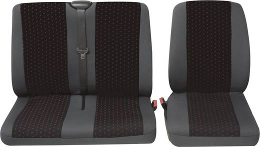 Sitzbezug 4teilig Petex 30071912 Profi 1 Polyester Rot, Anthrazit Fahrersitz, Doppelsitz