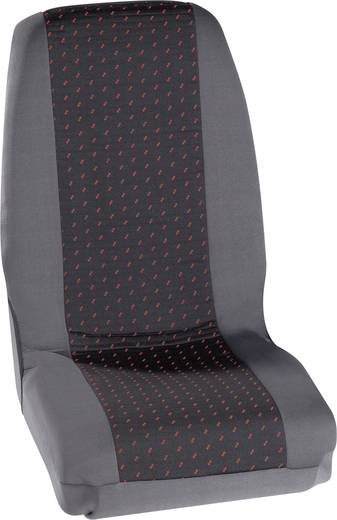 Sitzbezug 4teilig Petex 30070012 Profi 1 Polyester Rot, Anthrazit Fahrersitz, Beifahrersitz