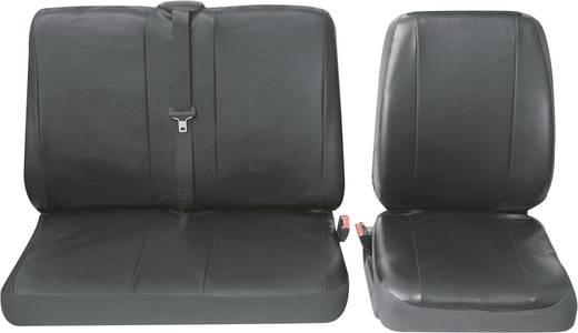 Petex 30071904 Profi 4 Sitzbezug 4teilig Kunstleder Schwarz Fahrersitz, Doppelsitz