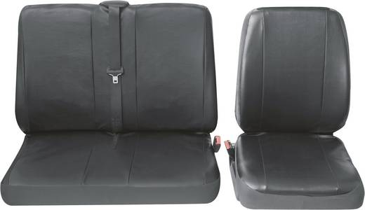 Sitzbezug 4teilig Petex 30071904 Profi 4 Kunstleder Schwarz Fahrersitz, Doppelsitz