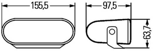 Fernscheinwerfer FF 75 H7 Hella (B x H x T) 155 x 63 x 97 mm