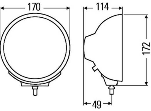 Fernscheinwerfer Luminator Compact Metal H1 Hella (Ø x T) 170 mm x 114 mm Schwarz (matt)