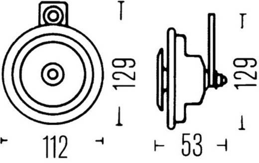 Hella 3BA 002 768-382 Tiefton Einzelhorn 24 V