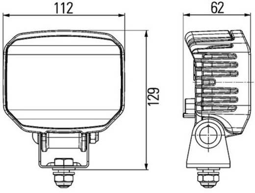Arbeitsscheinwerfer Hella Power Beam 1000 12 V, 24 V (B x H x T) 112 x 129 x 62 mm 850 lm