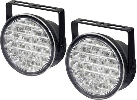 Tagfahrlicht LED (Ø x T) 90 mm x 36 mm DINO 610795 Feu de jour LED rond 90x36 mm 18 LED