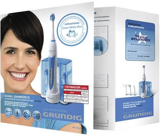 Elektrische Zahnbürste Grundig TB 8030 Clean-White-Plus Power Edition Schallzahnbürste Blau-Weiß