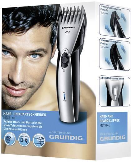 Bartschneider, Haarschneider Grundig MC 3140 abwaschbar Schwarz/Silber