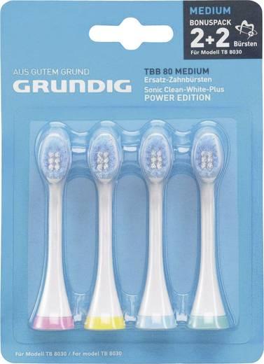 Aufsteckbürsten für elektrische Zahnbürste Grundig TBB80 Medium 4 St. Weiß