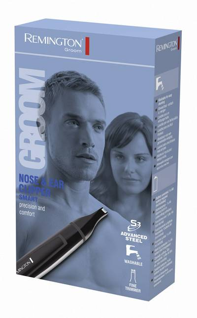 Ear/nose hair trimmer Remington NE3150 washable Black