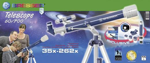 Linsen-Teleskop Bresser Optik Visomar Junior 60/700 AZ1 Azimutal Achromatisch, Vergrößerung 35 bis 175 x