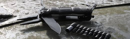 Multitool mit Holster, mit Bit-Set, mit Clip Anzahl Funktionen 18 Walther MultiTacKnife MTK 5.0718 Schwarz