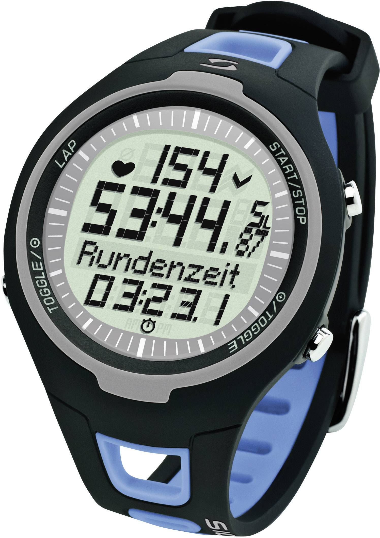 Heart rate monitor watch with chest strap Sigma PC 1511 Blue from
