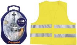 Autožárovka + bezpečnostní vesta Osram, CLKM H4 EURO UNV1, 12 V, H4, P43t
