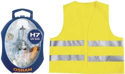 Sada autožárovek + bezpečnostní vesta Osram, CLKMH7 EURO UNV1, 12 V, H7, PX26d