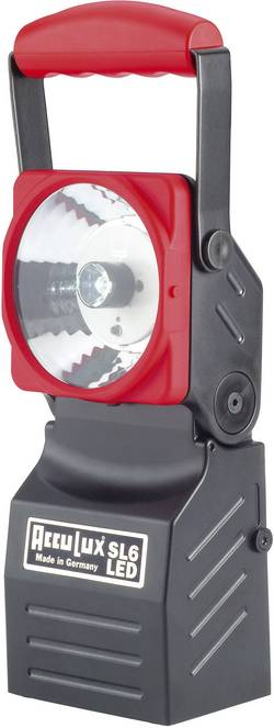 Nouzový ruční LED reflektor AccuLux SL6 LED 456541, černá/červená
