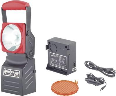 Lampada portatile a batteria AccuLux 456541 Nero, Rosso LED 5 h