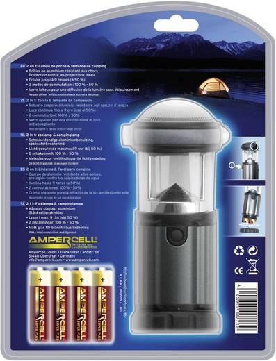 LED Camping-Laterne Ampercell Montana batteriebetrieben 315 g Schwarz-Silber 10425