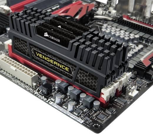 PC-Arbeitsspeicher Kit Corsair Vengeance® CMZ32GX3M4X1600C10 32 GB 4 x 8 GB DDR3-RAM 1600 MHz CL10 10-10-27