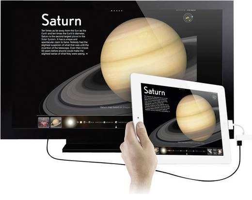 iPad/iPhone Videokabel/Audiokabel [1x Apple Dock-Stecker 30pol. - 1x Apple Dock-Buchse 30pol., HDMI-Buchse] 0.10 m Weiß