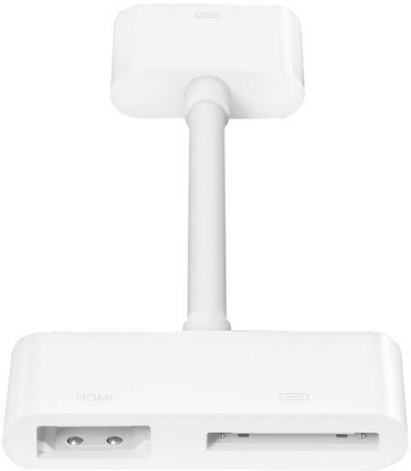 iPad/iPhone Videokabel/Audiokabel [1x Apple Dock-Stecker 30pol. - 1x Apple Dock-Buchse 30pol., HDMI-Buchse] 0.10 m Weiß Apple