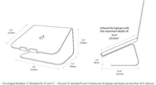 Notebook-Ständer Rain Design MacBook, MacBook 12