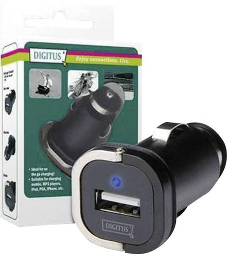 DIGITUS USB Lade-Adapter für Auto in 12V-24V out 5V/1A