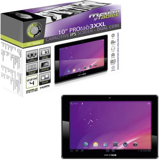 android tablet 25 7 cm 10 1 zoll 8 gb point of view pro. Black Bedroom Furniture Sets. Home Design Ideas