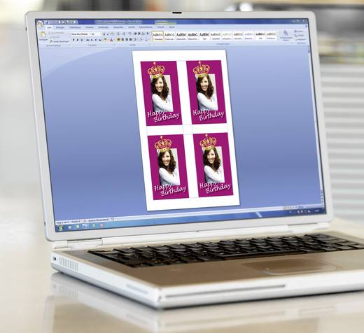 Sigel DE160 80 x 120 mm Papier Weiß 20 St. Permanent Flaschenetiketten