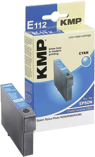 KMP Tinte ersetzt Epson T0802 Kompatibel Cyan E112 1608,0003