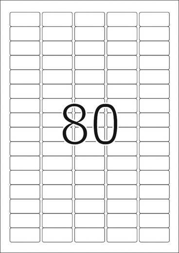 Herma 10003 Etiketten (A4) 35.6 x 16.9 mm Papier Weiß 2000 St. Wiederablösbar Universal-Etiketten, Preis-Etiketten Tinte