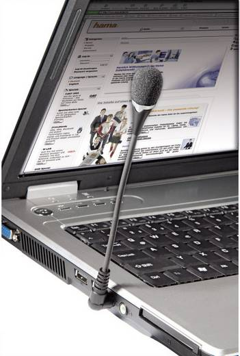 PC-Mikrofon Hama Notebook VoIP-Mikrofon Kabelgebunden