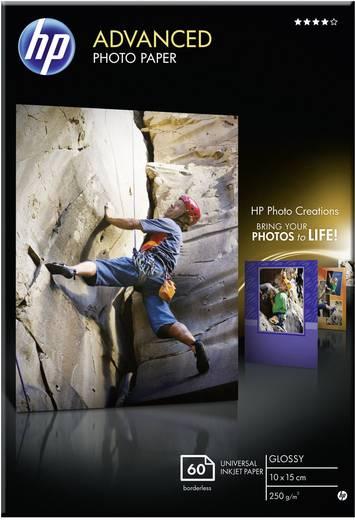 Fotopapier HP Advanced Photo Paper Q8008A 10 x 15 cm 250 g/m² 60 Blatt Hochglänzend