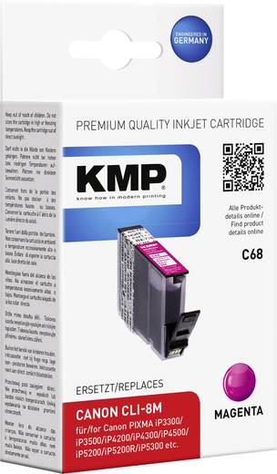 KMP Tinte ersetzt Canon CLI-8 Kompatibel Magenta C68 1505,0006