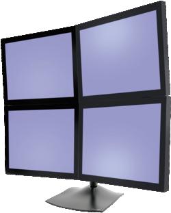 Monitorhalterung für 4 Monitore