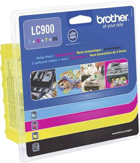 Brother Tinte LC-900 Original Kombi-Pack Schwarz, Cyan, Magenta, Gelb LC900VALBP