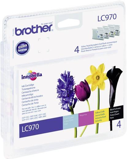 Brother Tinte LC-970 Original Kombi-Pack Schwarz, Cyan, Magenta, Gelb LC970VALBP