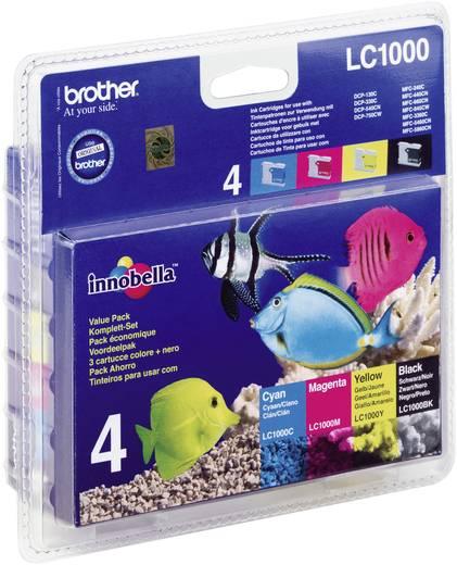Brother Tinte LC-1000BK/C/M/Y Original Kombi-Pack Schwarz, Cyan, Magenta, Gelb LC1000VALBP
