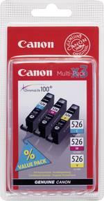 Pack de cartouches d'origine Canon CLI-526 CMY cyan, magenta, jaune