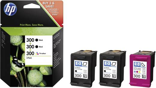 HP Tinte 300 Original Kombi-Pack Schwarz, Cyan, Magenta, Gelb SD518AE