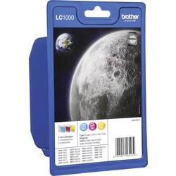 Image of Brother Tinte LC-1000 Original Kombi-Pack Cyan, Magenta, Gelb LC1000RBWBPDR