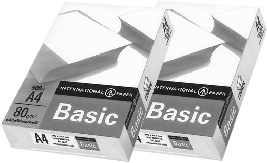 Universal Druckerpapier International Paper IP Basic 88070920 2er Set DIN A4 80 g/m² 1000 Blatt Weiß