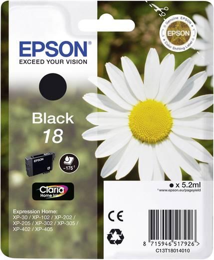 Epson Tinte T1801, 18 Original Schwarz C13T18014010