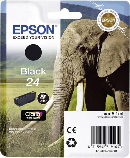 Epson Tinte T2421, 24 Original Schwarz C13T24214010