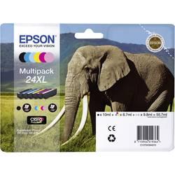 Epson Ink T2438, 24XL originál černá, azurová, purppurová, žlutá, světlá kyanová modrá, světlá purpurová C13T24384011
