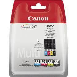 Sada náplní do tlačiarne Canon CLI-551 BKCMY 6509B009, foto čierna, zelenomodrá, purpurová, žltá