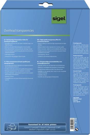 Tintenstrahl Overhead-Folie Sigel IF110 IF110 DIN A4 Transparent 10 St.