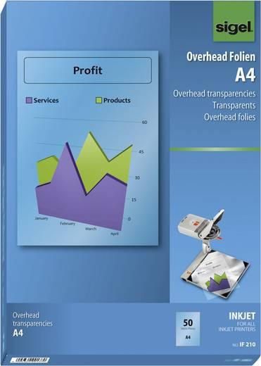Tintenstrahl Overhead-Folie Sigel IF210 IF210 DIN A4 Transparent 50 St.