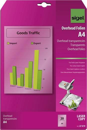 Laser Overhead-Folie Sigel Farblaser Overhead Folien A4 LF619 DIN A4 Bedruckbar, Optimiert für Laser 20 St.