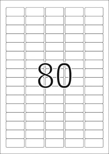 Herma 4336 Etiketten (A4) 35.6 x 16.9 mm Papier Weiß 2000 St. Permanent Universal-Etiketten, Adress-Etiketten Tinte, Las